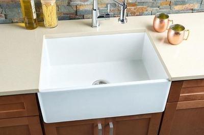 Hahn FireClay Medium Single Bowl Sink FireClay Series