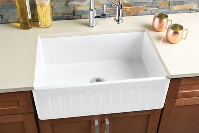 Hahn FireClay Large Reversible Single Bowl Sink FireClay Series