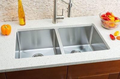 Hahn Small Radius Extra Large Equal Double Bowl Sink Small Radius Series