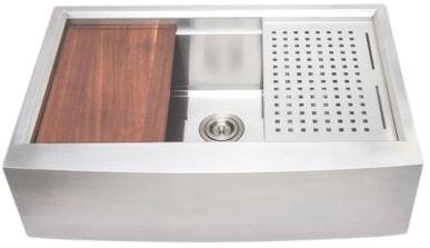 Wells Single Farmhouse Sink - 3 D Series Prep Center