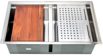 Wells Double Undermount Sink - 3 D Series Prep Center