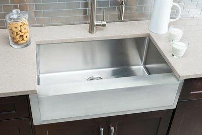Hahn Notched Farmhouse Large Single Bowl Sink