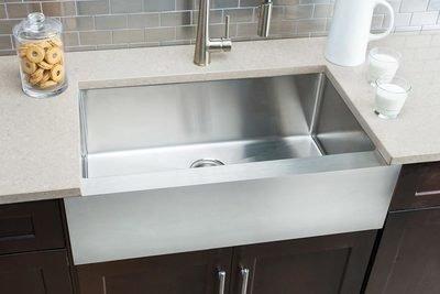 Hahn Flat-Apron Farmhouse Large Single Bowl Sink