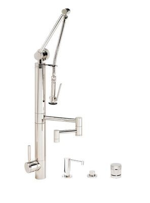 CONTEMPORARY GANTRY® PULLDOWN FAUCET – 12″ ARTICULATED SPOUT