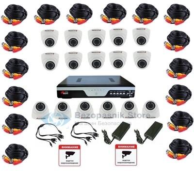 Готовый комплект Full HD видеонаблюдения на 16 камер