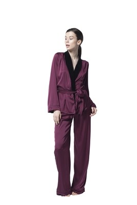 Burgundy Red Pajama Set