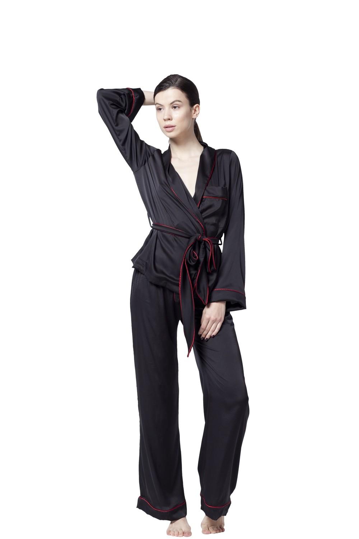 Supreme Black Pajama Set
