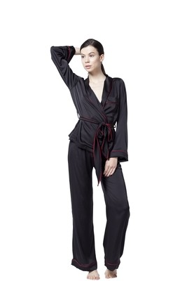 Supreme Black Pajama Set