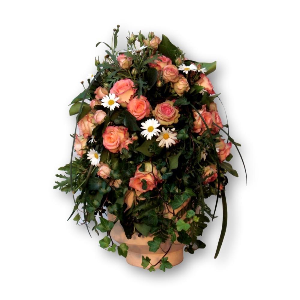 Urnenschmuck Frühling - rosa/weiss/grün