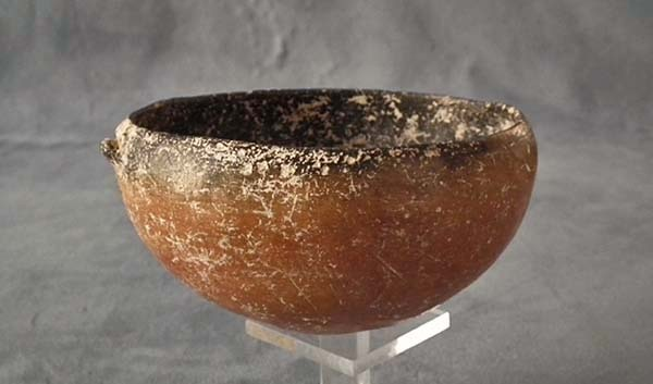 SOLD Ancient Greek Cypriot Red polished Ceramic Bowl Cyprus Bronze Age 2500 1900 B.C.