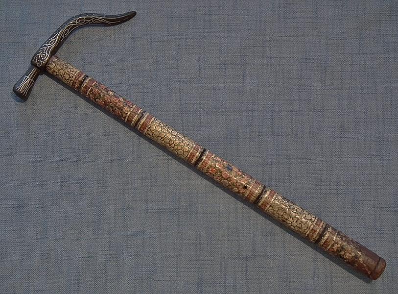 SOLD Antique 17th-18th Century Turkish Ottoman Islamic War Hammer Kulunk