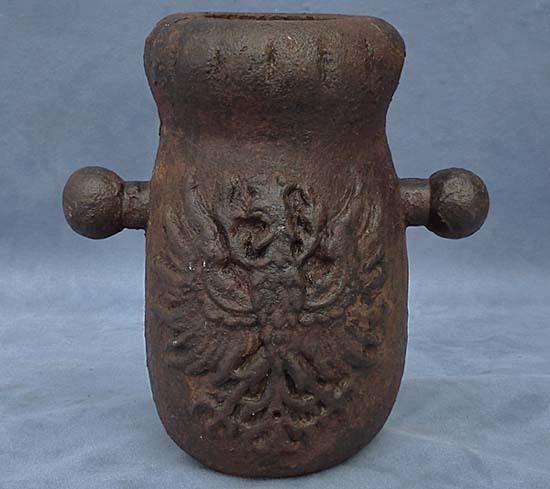 SOLD Antique 17th century European Iron Mortar Cannon Gun
