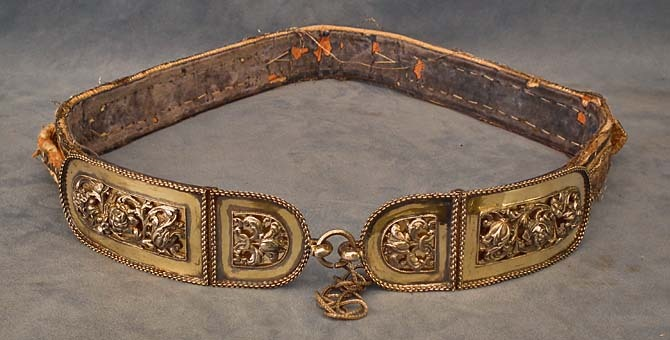 SOLD  Antique Hungarian Polish Silver Mounted Sword Belt 17th -19th century Hungary