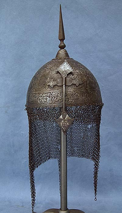 SOLD Antique 18th century Indo Persian-Mughal, Islamic Kulah-Khud Helmet Mogul India