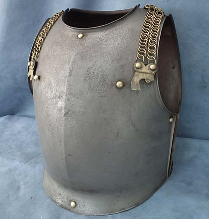 SOLD Antique 19th century French Cavalry Cuirassier Armor Cuirass Breast plate & Back plate