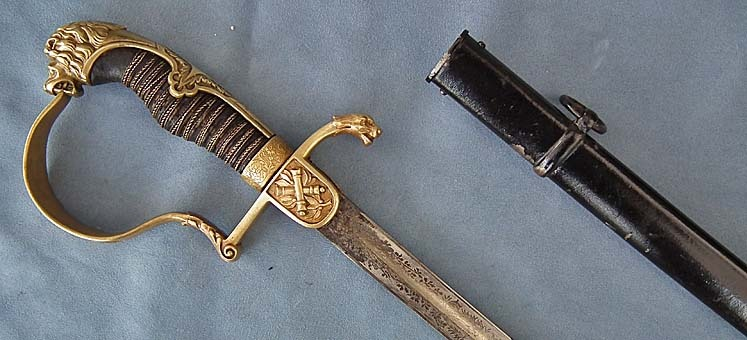 SOLD Antique 19th century Imperial German – Prussian Artillery Officer Sword Sabre