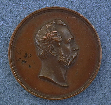 SOLD Antique Imperial Russian bronze medal Visit of Alexander II to the Academy of Sciences on its Golden Jubilee 1826-1876