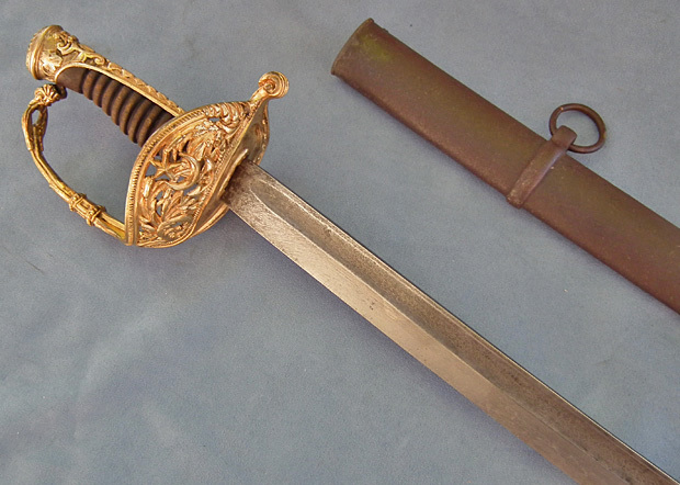 SOLD  Scarce antique 19th century Turkish Ottoman Naval officer's Sword Sabre