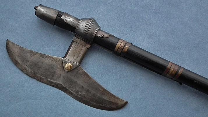 SOLD Antique 17th -18th century India Chota Nagpur Indian Axe Bullova