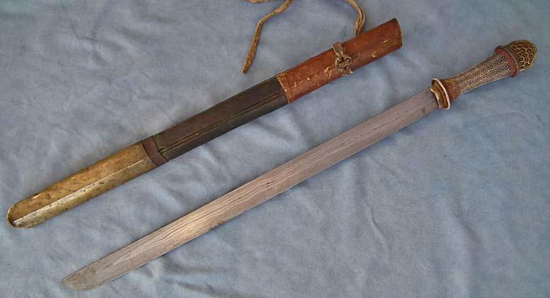 SOLD Antique Bhutanese - Tibetan long sword, Bhutan ,Tibet 18th -19th century