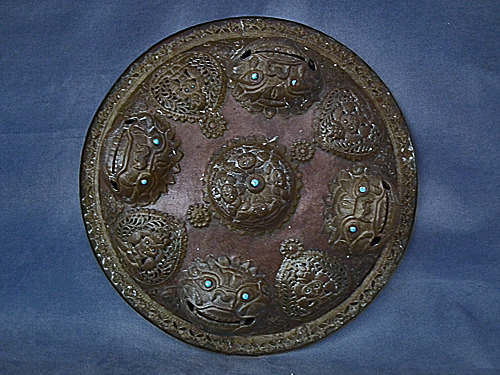 SOLD Antique Nepalese Copper Shield 19th century Nepal