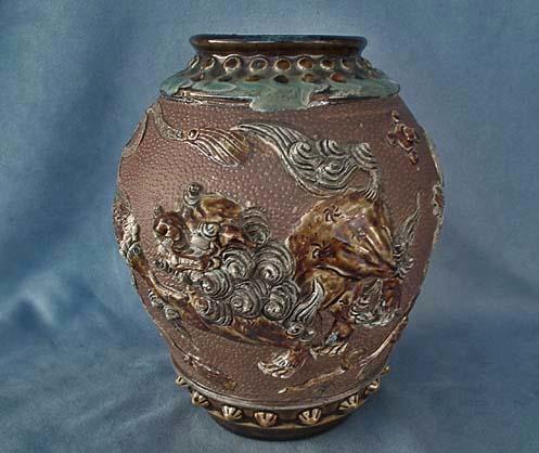 SOLD Antique Chinese Qing Dynasty Porcelaneus Stoneware Jar Vase