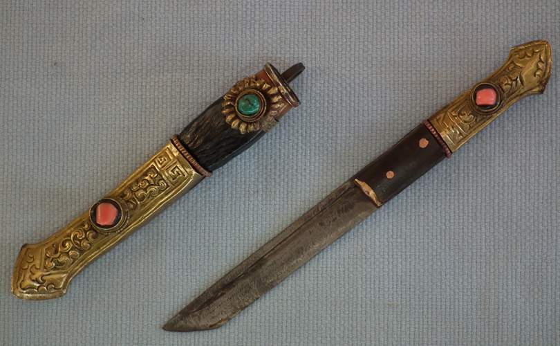 SOLD Antique Tibetan Short Knife Dagger Lothi