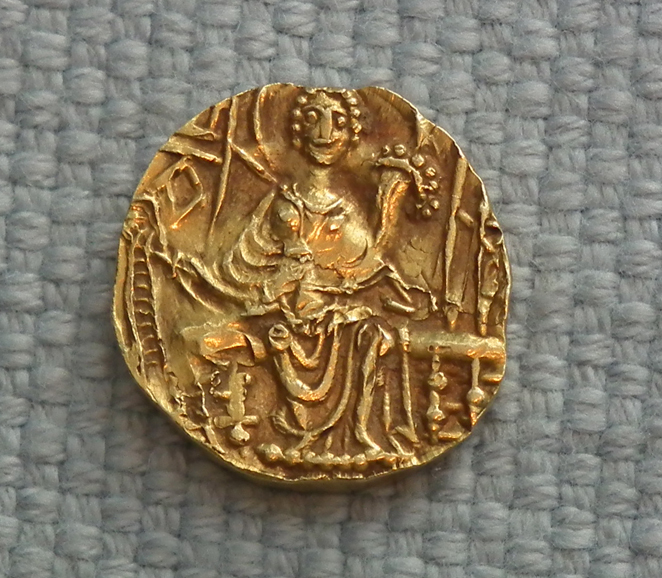 SOLD Ancient Gold Coin Stater Kushan Empire 4th century A.D.