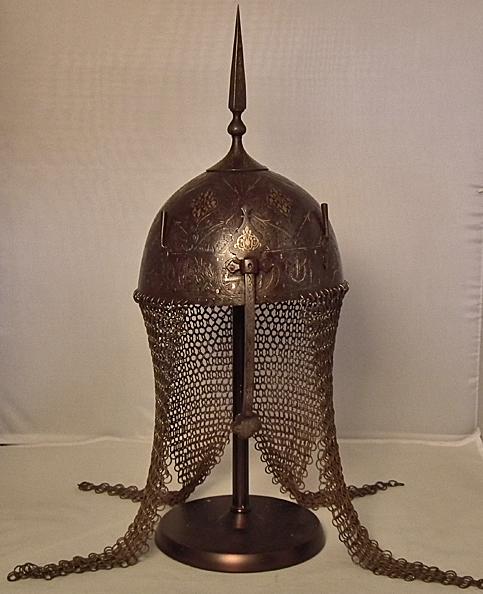 SOLD  Antique 17th -18th Islamic Indo Persian Helmet Kulah –  Khud