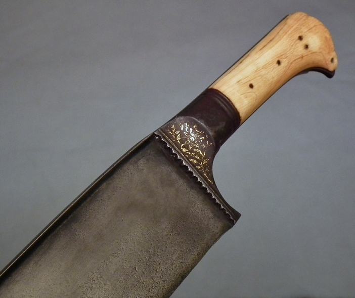 SOLD Antique Gold Inlaid Indo Persian Islamic Sword Khyber Knife Salawar Yatagan