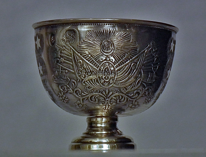 SOLD Antique Turkish Ottoman Silver Islamic Military Zarf with Sultan Tugra