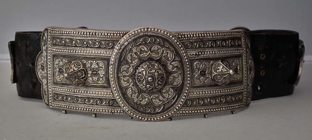 SOLD Antique Imperial Russian Islamic Silver Caucasian Belt Caucasus