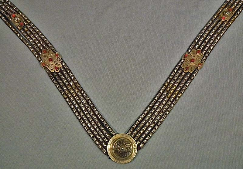 SOLD Antique Islamic Central Asian Turkoman Tekke Silver Horse Trapping Jewelry