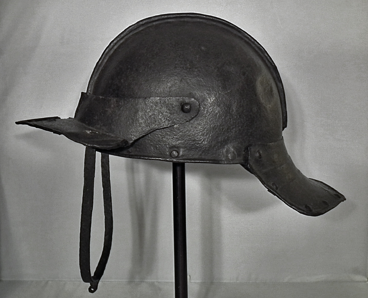 SOLD Antique 17th Century English Cromwellian, Lobster - Tail helmet Harquebusier Pot