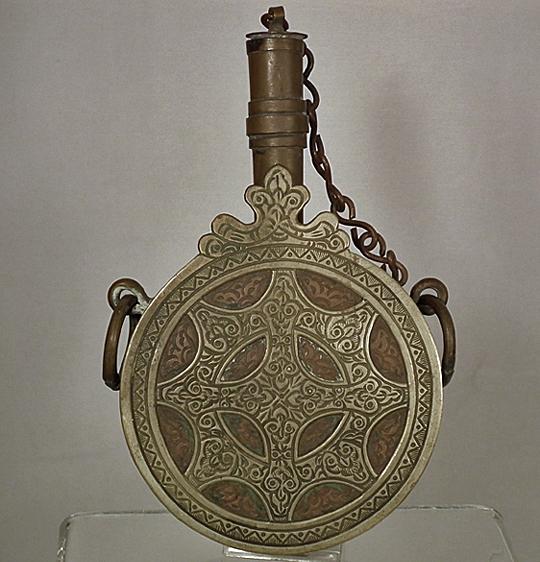 SOLD Antique Islamic North African Maghrebi Arabic Moroccan Gun Powder Flask
