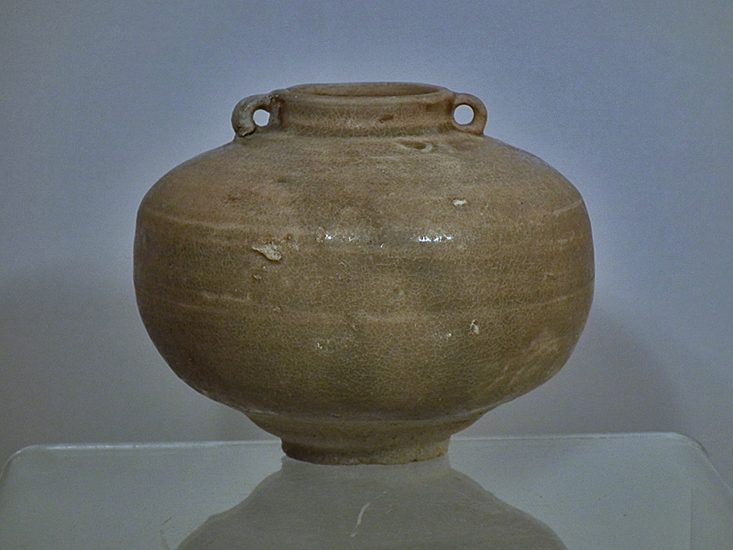 SOLD Ancient Chinese Jin Dynasty (265-420 A.D.) Yue Ware Porcelaneous Celadon Jar