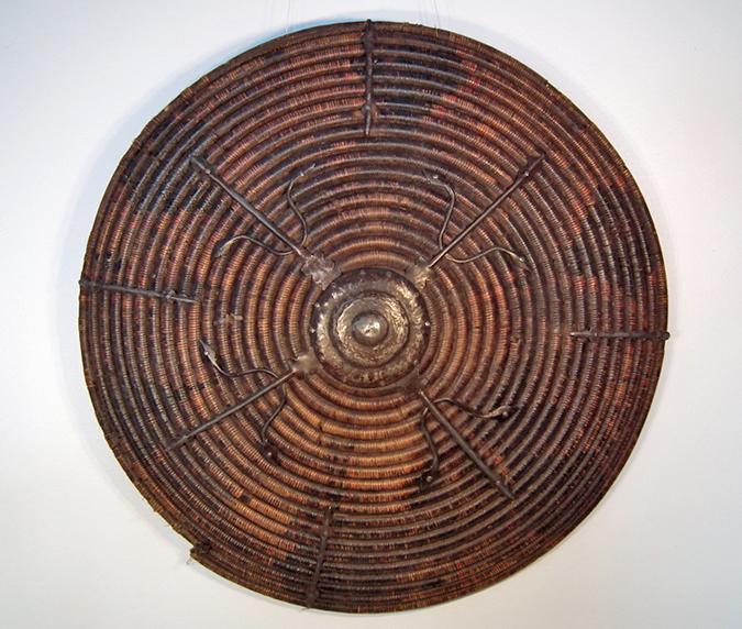 SOLD Rare Antique 15-17th Century Mongol -Tatar Wicker Shield Kalkan