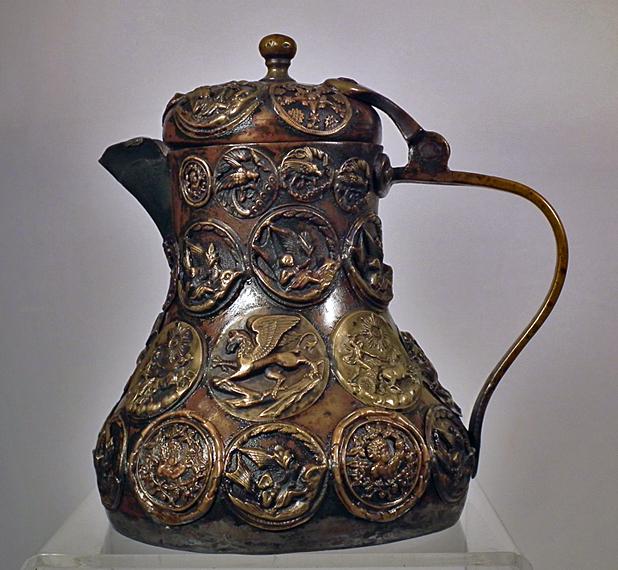 SOLD Antique 18th/ 19th century Turkish Ottoman Balkan - Greek Brass Coffee Pot
