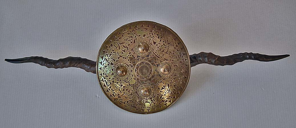 SOLD Antique Indian Parrying Shield Madu 18th/19th century Northern India