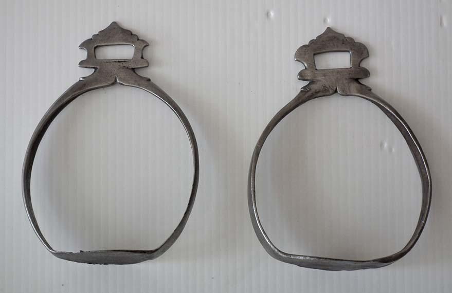 SOLD  Pair Of Antique 17th century Islamic Crimean Tatar Saddle Stirrups
