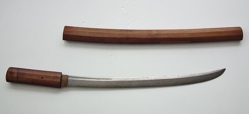 SOLD Antique Japanese Samurai Sword Wakizashi With  Naginata Form Blade
