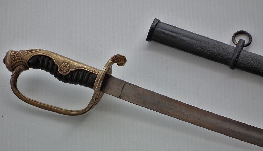 SOLD Antique Imperial Japanese Army Military Officer Kyu Gunto Sword Pattern 1873