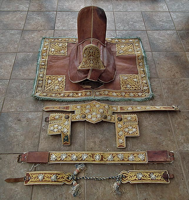 SOLD Semi - Antique Islamic North African Maghrebi Arab Spahis Saddle