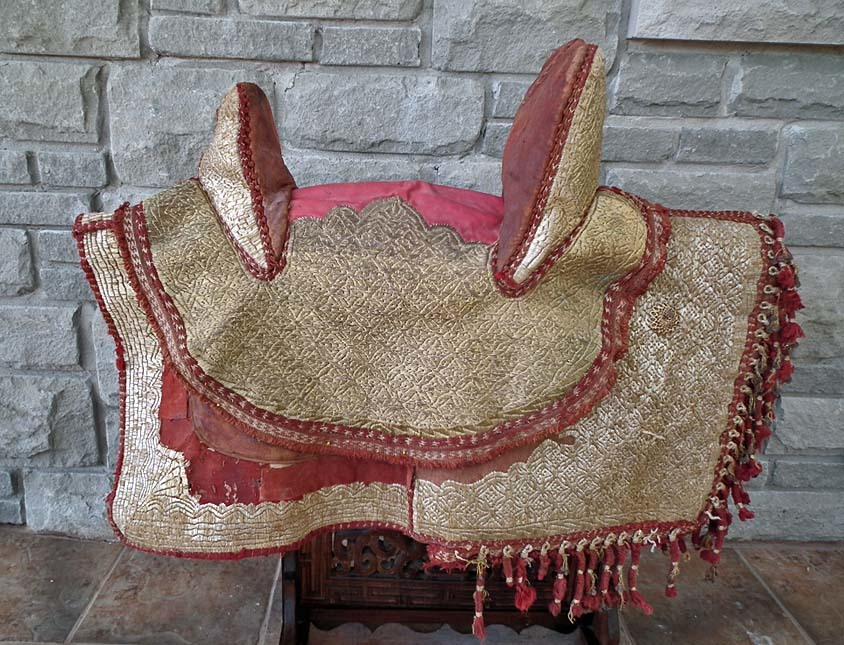 SOLD Antique 19th century North African Islamic Maghrebi Arab Spahis Embroidered Horse Saddle