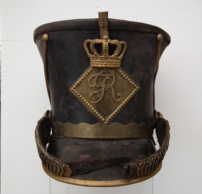 SOLD Antique 19th Century German Napoleonic Württemberg Military Shako Helmet