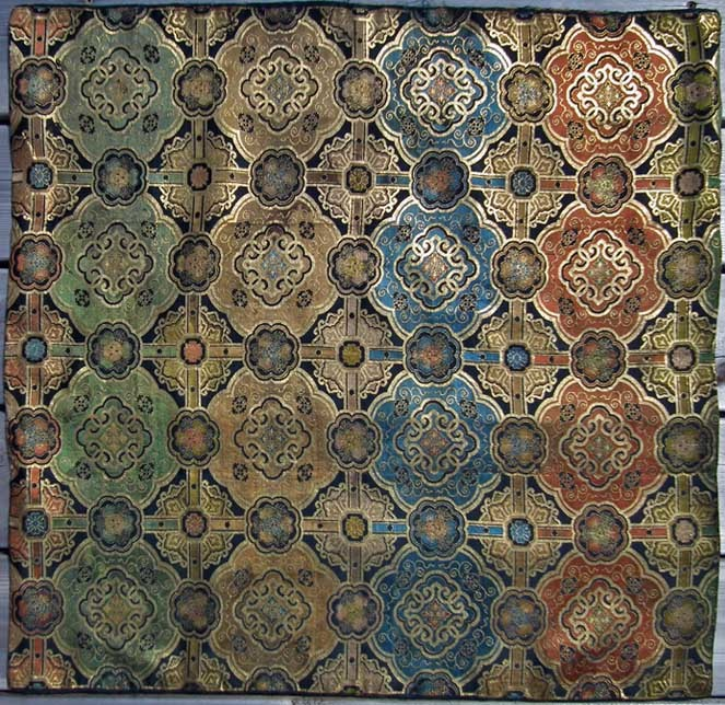 SOLD Antique Chinese Ming Dynasty (1368–1644) Brocade Silk Panel