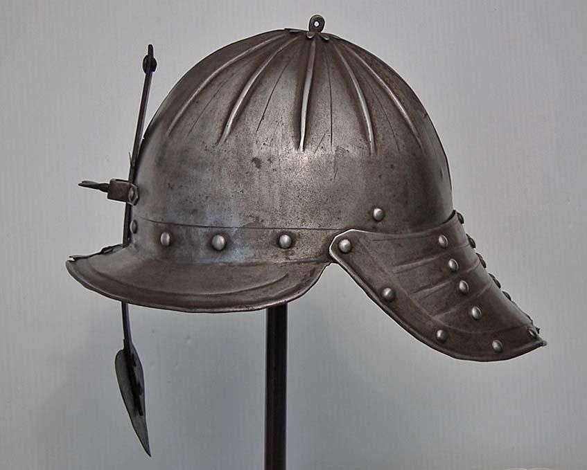 SOLD  Antique  Polish Hussar Lobster Tail Helmet Zischägge 17th Century Poland