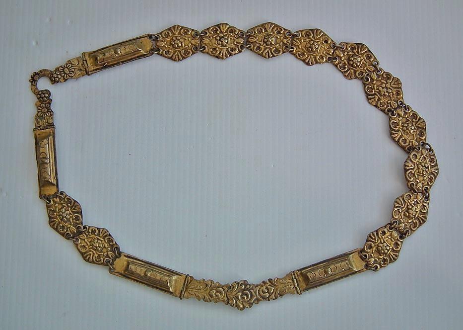 SOLD  Antique 17th century Polish Gilt Brass Sword Belt Pancerzowy