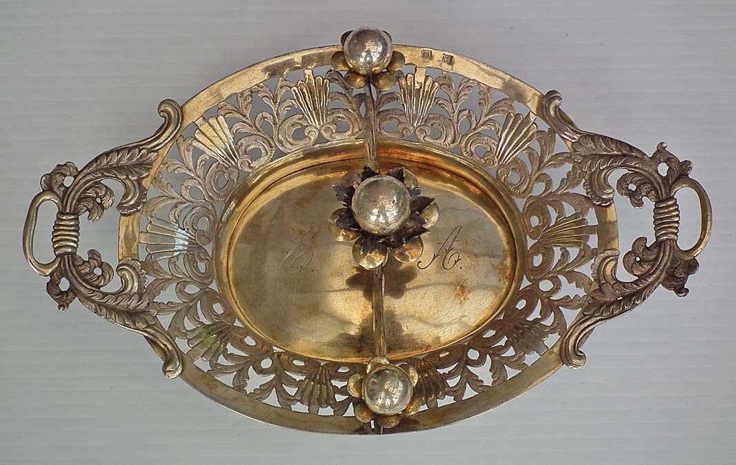 SOLD   Polish Antique Silver Candy Basket In Empire Style 19th century Poland