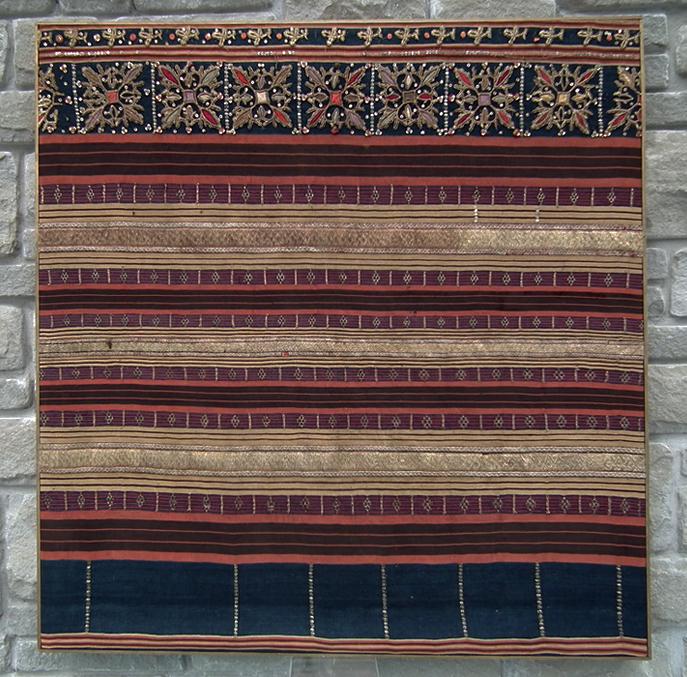 SOLD Antique Islamic Indonesian Lampung Sumatra Gold Embroidered Tapis Sarong